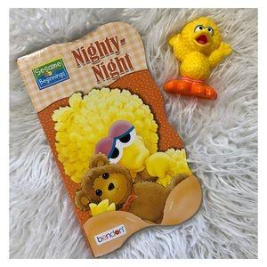 "1 SESAME STREET Big Bird ""Nighty-Night"" Board Book"